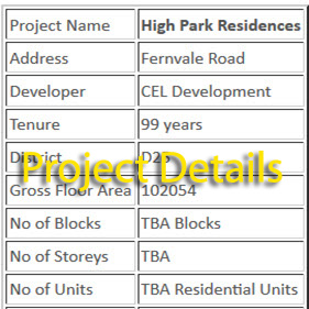 High Park Residences Project Details